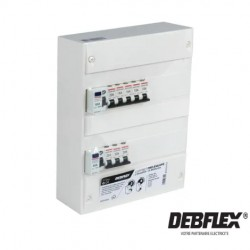 DEBFLEX Tableau prééquipé 2 rangées 26 modules-electricité pas cher troyes prix usine prise interrupteur disjoncteur