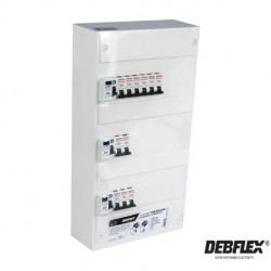 DEBFLEX Tableau pré-cablé 3 rangées 39 modules-electricité pas cher troyes prix usine prise interrupteur disjoncteur