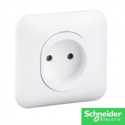 OVALIS Prise de courant 2P - Ovalis-schneider-electricité pas cher Troyes prix usine prise interrupteur disjoncteur