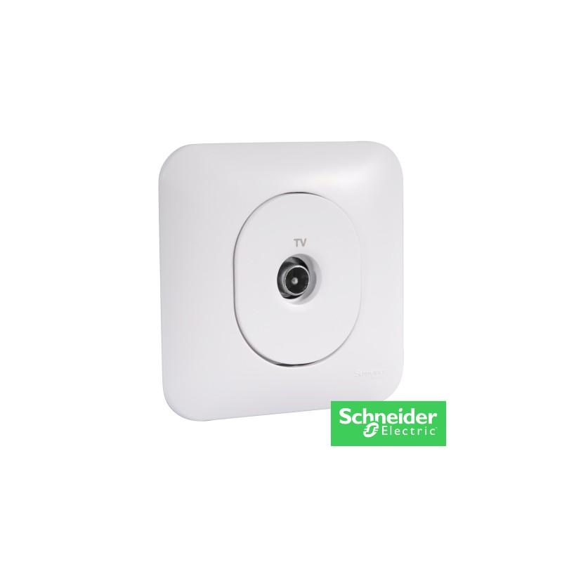 OVALIS prise TV-ovalis-schneider-electricité pas cher Troyes prix usine prise interrupteur disjoncteur
