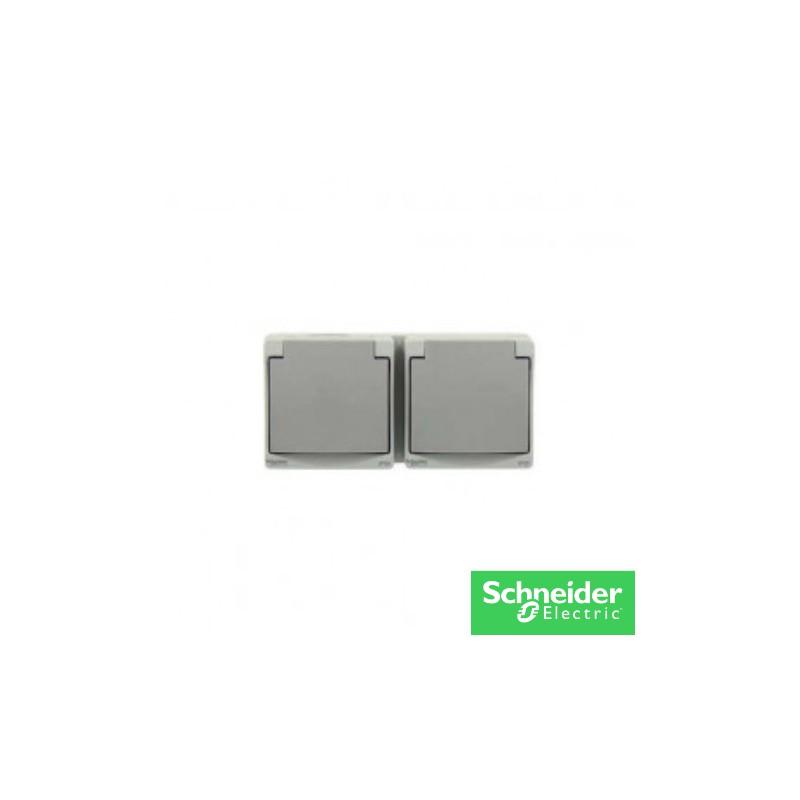 Mureva double PC NF etanche IP65-mureva-schneider-electricité pas cher troyes prix usine prise interrupteur disjoncteur